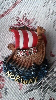 NEW Norway Sculptured Viking Ship Magnet