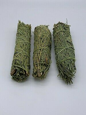 3x Cedar Sage Smudge Sticks / Wands - House Cleansing Negativity Removal