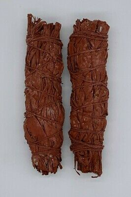 2X Dragons Blood Sage Smudge Sticks / Wands - Protection, Negativity Removal