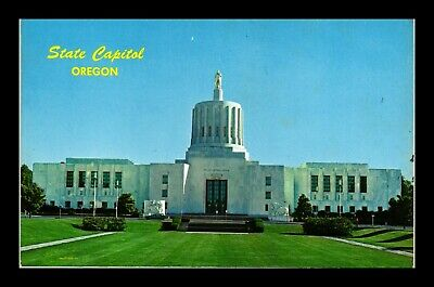Dr Jim Stamps Us State Capitol Oregon Chrome View Topical Postcard