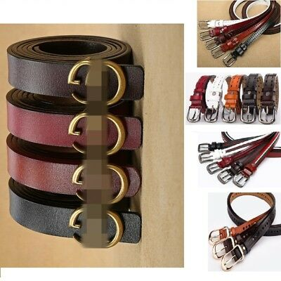 Women's Genuine Leather Belts Wide 2.5cm Jeans Belt with Letter Double G Buckle