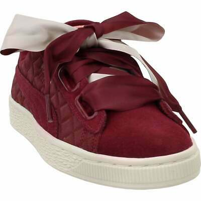 new style 40390 47578 PUMA WOMEN'S HEART suede shoes sneakers satin rose gold pink ...