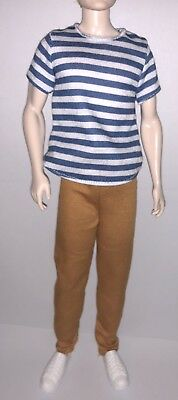 Barbie Fashionistas AA Ken Broad Doll Outfit #18 Super Stripes Clothes Shoes NEW