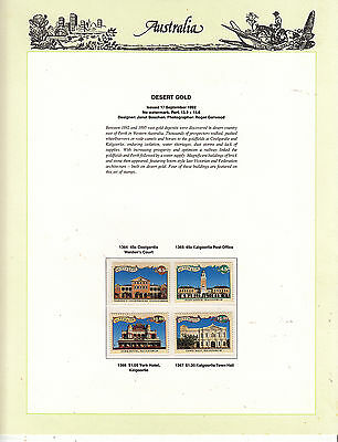 AUST. 1992 Desert Gold on Illustrated Album Page MUH page NOT included