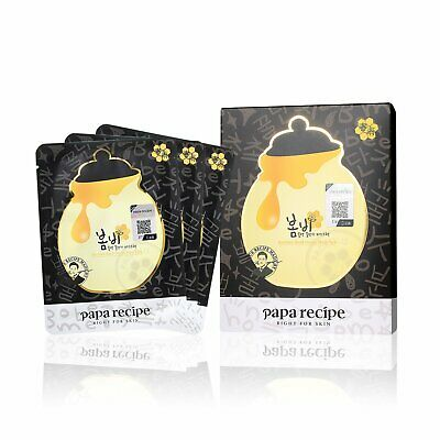 Papa Recipe Bombee Black Honey Mask Pack 10 Sheets Hydrating Mask Skincare