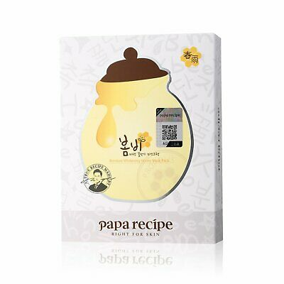 Papa Recipe Bombee Whitening Honey Mask Pack 10 Sheets in box Hydrating Mask