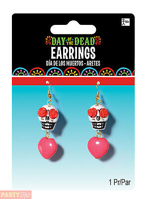 Day Of The Dead Accessories - Earrings (Re-Ordering - Pack Of 6)