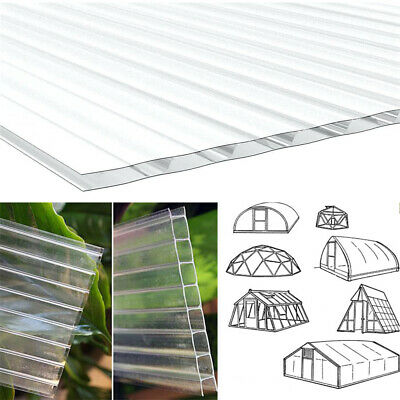 4mm Polycarbonate Sheets 6/12/18/24 Panels For Greenhouse Shield Roofing Glazing