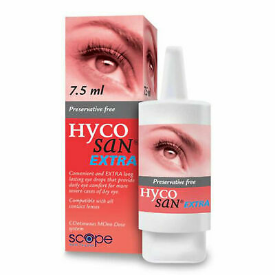 Hycosan Extra Eye Drops with 0.2% Hyaluronic Acid, Preservative Free - 7.5ml