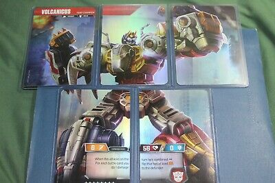 Transformers TCG Rise Combiners Wave 2 Volcanicus 5 Card Set Dinobots!!