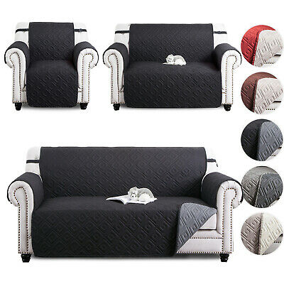 Quilted Water Proof Sofa Covers Reversible Anti Slip Cover Sofa Throw Protector