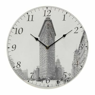 Flat Iron building Glass Wall Clock by Iconic Collection