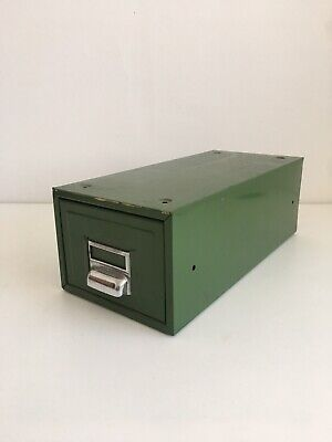 Vtg Mid-Century Industrial Archive Storage Drawer Atomic Architecture Office