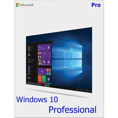 Microsoft Windows 10 Pro Professional 32 /64. Bit Product Key Vollversion Win 10