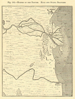 Mouths of the Danube. Kilia and Sulina Branches. Romania. Sketch map 1886