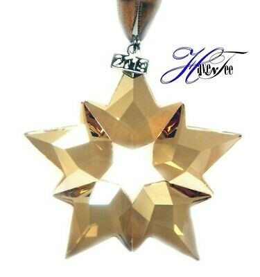 2019 Scs Annual Edition Large Gold Star Ornament Swarovski Crystal 5429596