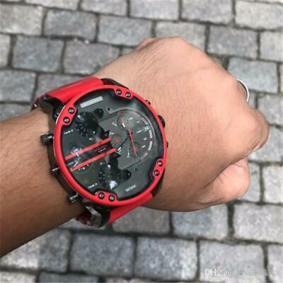New Genuine Diesel Dz7370 57Mm Mr.daddy 2.0 Xl Red Silicone Chrono Mens Watch