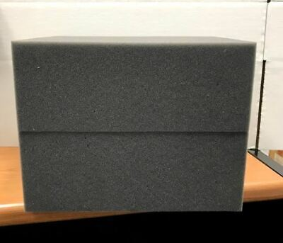 "2 Firm High Density Charcoal Foam Blocks for Packing Shipping 12"" x 9.5"" x 4.5"""