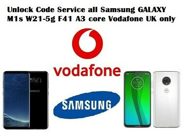 Unlock Code Service all Samsung A70 A51 5g s10+ s9 s8 Vodafone UK network only