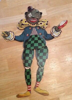 Vintage 16 Inch African American Clown Rare Unique Old Clown