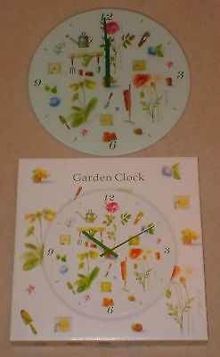 Glass Wall 'Garden Clock' Mint Condition Boxed Unused