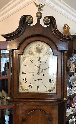 Antique Grandfather Clock 8 Day Overhauled Movement By Holland Of Chester C1780