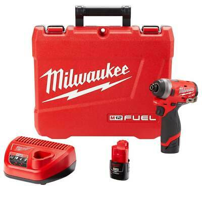Milwaukee 2553-22 12-Volt 1/4-Inch M12 FUEL Hex Impact Driver Kit