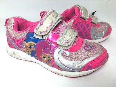 Shimmer And Shine Toddler Pink Sneakers Girl's Size 10 Glittered Sneakers