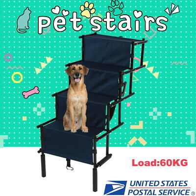 Foldable Pet Gear Easy Step 5 Steps Ramp Dog Cat Stairs Ladder for Chair or Bed