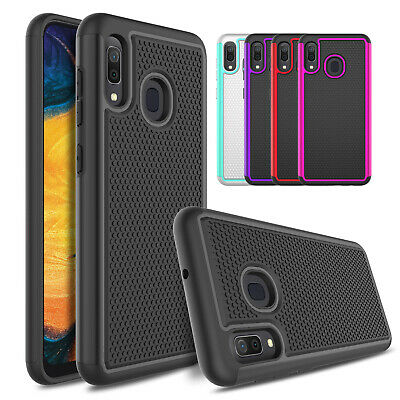 For Samsung Galaxy A30/A20 Shockproof Rugged Hard Slim Dual Layer Case Cover TPU