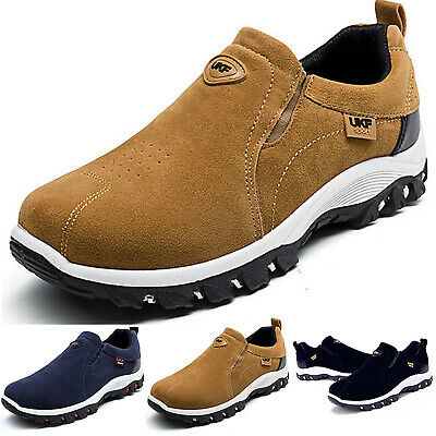 Men's Slip On Sports Outdoor Sneakers Running Hiking Trail Casual Shoes Trainers