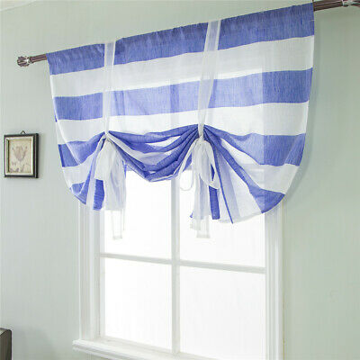 Tie Up Shade for Small Window Thermal Insulated Blackout Curtain Valance Balloon
