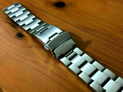SEIKO OYSTER 20mm FLAT LUGS STAINLESS STEEL MENS WATCH STRAP BAND BRACELET NEW