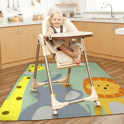 Cute Cartoon Animal Baby High Chair Splash Mat Waterproof Floor Protecting Pad