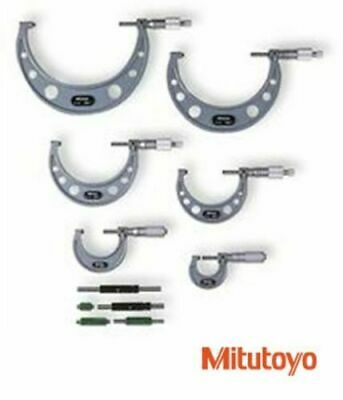 Genuine Mitutoyo Outside Micrometer Set 0 - 150Mm - New & Packed - Made In Japan