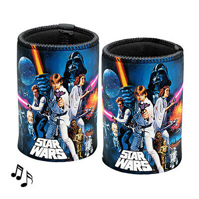Star Wars Can Cooler Stubby Holder MUSICAL Plays Star Wars Theme Music Bar Gift