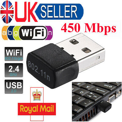 450Mbps Mini USB WiFi Dongle 802.11 B/G/N Wireless Network Adapter for Laptop PC