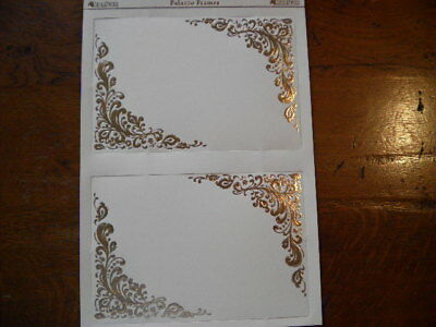 Lovely Die Cut Toppers by Kanban 'Palazzo Frames - Cream and Gold' (101) M