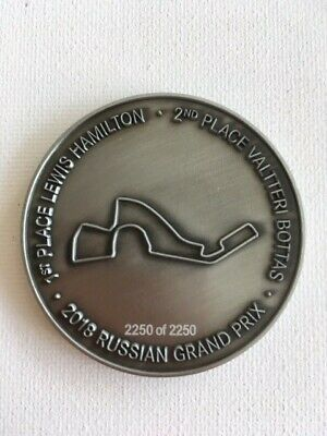 Genuine Mercedes Benz Commemorative F1 Medal from 2018 Russia GP Mercedes AMG