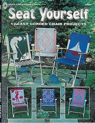 BOOK #9603 Seat Yourself Lawn Chairs Patio Macrame Patterns Instructions Designs