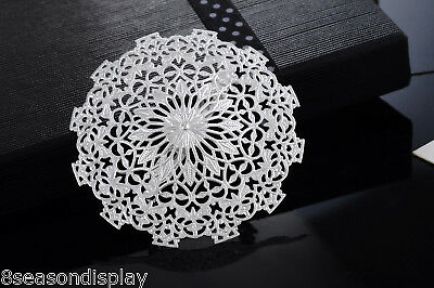 1PC Hollow Flower Brooch New Fashion Ladies Girls Silver Plated Deco Gift