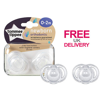 Baby Dummies Tommee Tippee Closer To Nature 0 to 2 Months Newborn Soother 2 Pack
