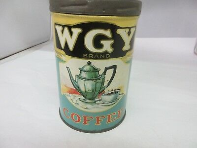 Vintage Wgy Coffee With Original Lid  Advertising Collectible  618-Y