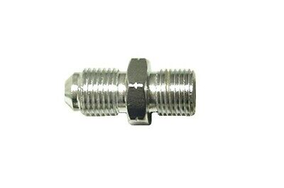"""Adaptor 10mm x 1.25mm Convex Chrome fits on to 1/8"""" Hose End (Per 5)"""