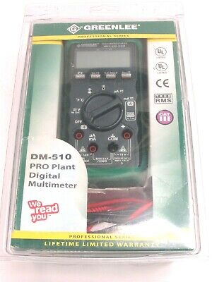 Greenlee Dm-510 Pro Plant True Rms Professional Digital Multimeter