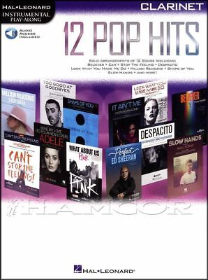 12 Pop Hits Instrumental Play-Along for Clarinet Sheet Music Book/Audio Adele
