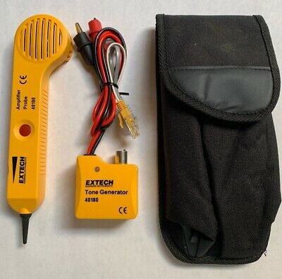 Extech Tone Generator Probe Kit Cable Wire Tracer 40180 with BT431 adaptor
