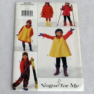 Vogue For Me Vintage Girls Dress Top Jumper Jumpsuit Leggings Pattern 9555 Uncut