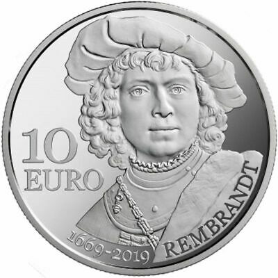 2019 San Marino € 10 Euro Silver Proof Coin Death of Rembrandt 350 Years