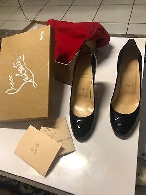 new style da7e2 0d009 CHRISTIAN LOUBOUTIN SIMPLE Pump 100 Patent Calf Leather Size 38,5